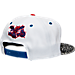 Back view of New Era Charlotte Hornets NBA Retro 3 OG Hook Snapback Hat in White