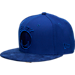 Front view of New Era Golden State Warriors NBA Retro 12 Hook Snapback Hat in Deep Royal Blue