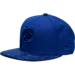 Front view of New Era Indiana Pacers NBA Retro 12 Hook Snapback Hat in Deep Royal Blue