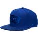 Front view of New Era San Antonio Spurs NBA Retro 12 Hook Snapback Hat in Deep Royal Blue