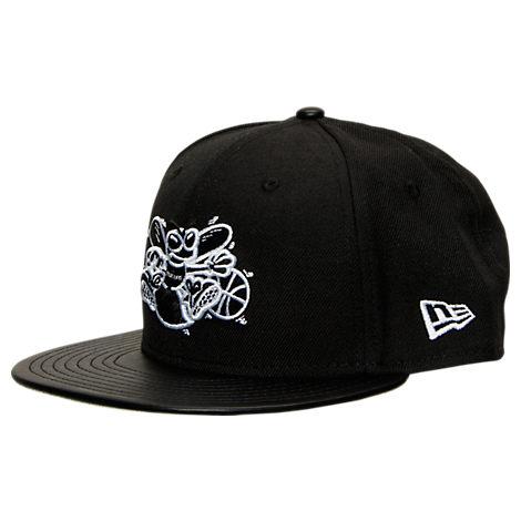 New Era Charlotte Hornets NBA Retro 3 Hooks Snapback Hat