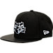 Front view of New Era Charlotte Hornets NBA Retro 3 Hooks Snapback Hat in Black
