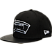 Front view of New Era San Antonio Spurs NBA Retro 3 Hooks Snapback Hat in Black