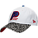 Front view of New Era Indiana Pacers NBA Retro 3 OG Adjustable Hat in White