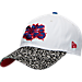 Front view of New Era Charlotte Hornets NBA Retro 3 OG Adjustable Hat in White