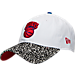 Front view of New Era New York Knicks NBA Retro 3 OG Adjustable Hat in White