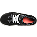 Top view of Girls' Grade School Nike Huarache Run Print Running Shoes in Black/White/Lava Glow