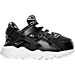 Right view of Girls' Toddler Nike Huarache Run Running Shoes in Black/White/Lava Glow