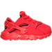 Right view of Boys' Toddler Nike Huarache Run Running Shoes in University Red/University Red
