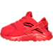 Left view of Boys' Toddler Nike Huarache Run Running Shoes in University Red/University Red