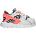 Right view of Girls' Toddler Nike Huarache Run Running Shoes in Pure Platinum/Lava Glow/Cool Grey