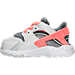Left view of Girls' Toddler Nike Huarache Run Running Shoes in Pure Platinum/Lava Glow/Cool Grey