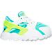 Right view of Girls' Toddler Nike Huarache Run Running Shoes in White/Volt/Hyper Turq/Jade