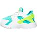 Left view of Girls' Toddler Nike Huarache Run Running Shoes in White/Volt/Hyper Turq/Jade