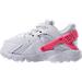 Left view of Girls' Toddler Nike Huarache Run Running Shoes in White/Racer Pink