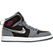 Right view of Girls' Preschool Jordan Retro 1 High Basketball Shoes in Cool Grey/Vivid Pink/Black/White