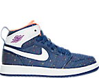 Girls' Preschool Air Jordan Retro 1 High Basketball Shoes