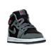 Three Quarter view of Girls' Toddler Jordan Retro 1 High Basketball Shoes in Cool Grey/Vivid Pink/Black/White