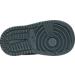 Bottom view of Girls' Toddler Jordan Retro 1 High Basketball Shoes in Cool Grey/Vivid Pink/Black/White
