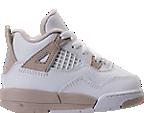 Girls' Toddler Jordan Retro 4 Basketball Shoes