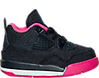 Girls' Toddler Jordan Retro 4 Basketball Shoes
