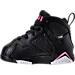 Left view of Girls' Toddler Jordan Retro 7 Basketball Shoes in Black/Vivid Pink