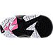 Bottom view of Girls' Toddler Jordan Retro 7 Basketball Shoes in Black/Vivid Pink