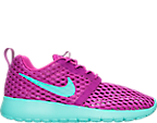 Girls' Grade School Nike Roshe One Flight Weight Breathe Casual Shoes