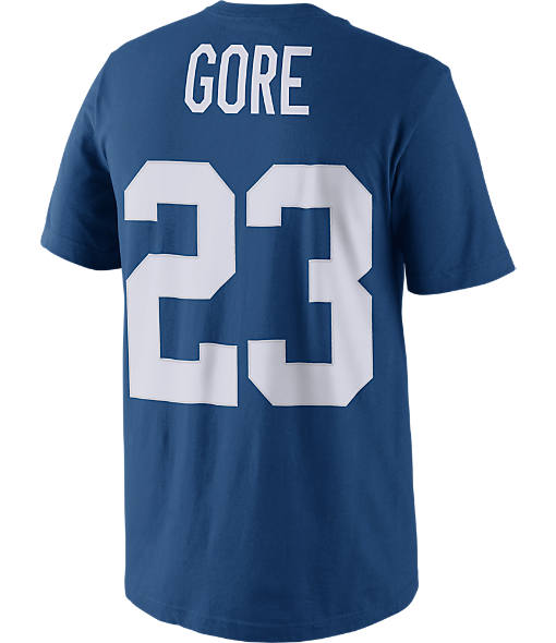 Men's Nike Indianapolis Colts NFL Frank Gore Name and Number T-Shirt