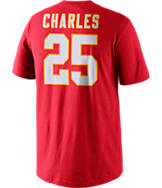 Men's Nike Kansas City Chiefs NFL Jamaal Charles Name and Number T-Shirt
