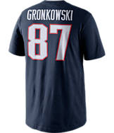 Men's Nike New England Patriots NFL Rob Gronkowski Name and Number T-Shirt