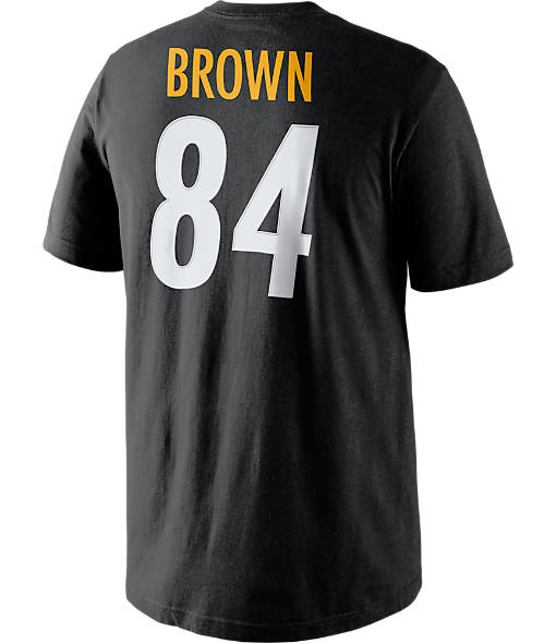 Men's Nike Pittsburgh Steelers NFL Antonio Brown Name and Number T-Shirt