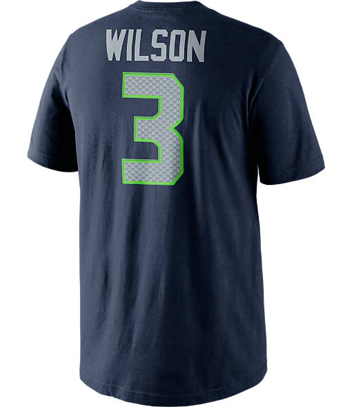 Men's Nike Seattle Seahawks NFL Russell Wilson Name and Number T-Shirt