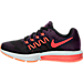 Left view of Women's Nike Zoom Vomero 10 Running Shoes in Vivid Purple/Bright Crimson/Black