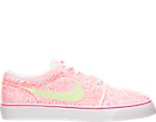 Girls' Grade School Nike Toki Low Canvas Print Casual Shoes