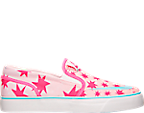 Girls' Grade School Nike Toki Printed Canvas Slip-On Casual Shoes
