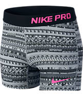Girls' Nike Pro Allover Print 3-Inch Boy Shorts