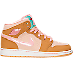 Girls' Grade School Air Jordan 1 Mid (3.5y-9.5y) Basketball Shoes