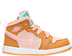 Girls' Toddler Air Jordan Retro 1 Mid Basketball Shoes