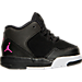 Right view of Girls' Toddler Jordan Flight Origin 2 Basketball Shoes in Black/Hyper Pink/White