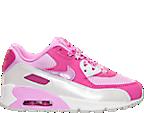 Girls' Preschool Nike Air Max 90 Mesh Running Shoes