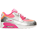 Girls' Preschool Nike Air Max 90 Premium Leather Running Shoes