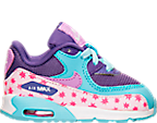 Girls' Toddler Nike Air Max 90 Premium Leather Running Shoes