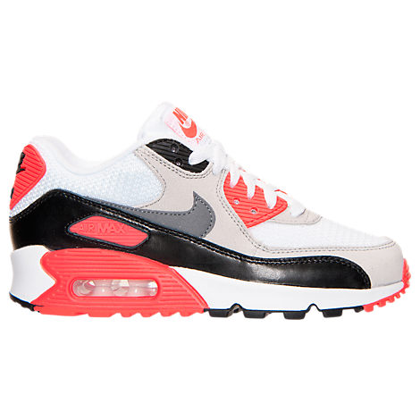 Boys' Grade School Nike Air Max 90 Premium Mesh Running Shoes