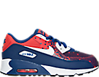 Boys' Preschool Nike Air Max 90 Premium Mesh Running Shoes