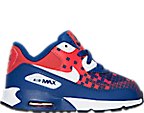 Boys' Toddler Nike Air Max 90 Premium Mesh Running Shoes