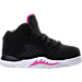 Right view of Girls' Toddler Jordan Retro 5 Basketball Shoes in Black/Deadly Pink/White