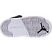 Bottom view of Girls' Toddler Jordan Retro 5 Basketball Shoes in Black/Deadly Pink/White