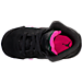 Top view of Girls' Toddler Jordan Retro 5 Basketball Shoes in Black/Deadly Pink/White