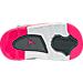 Bottom view of Girls' Toddler Jordan Dub Zero Basketball Shoes in Wolf Grey/Vivid Pink/Grey/White